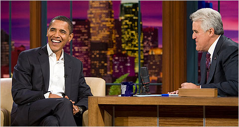 President Barack Obama, Jay Leno