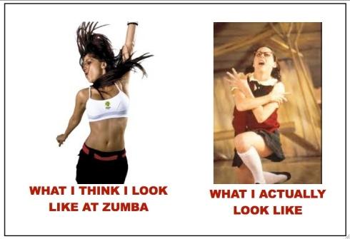 Zumba - what I think I look like